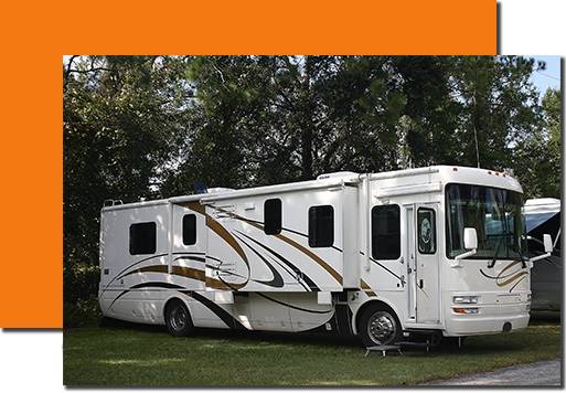 We clean RVs, motorhomes, and coaches